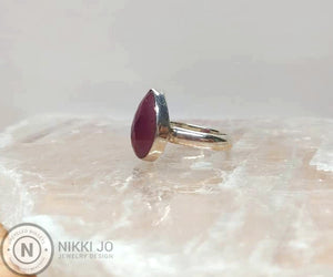 Pink Sapphire Sterling Silver/ Argentium Ring