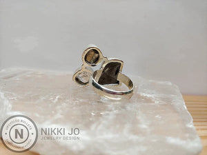 Shungite, Pyrite & Herkimer Ring