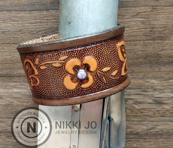 Recycled Belt Leather Cuff