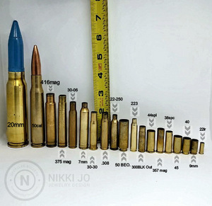9mm Bullet Casing & Love Charms