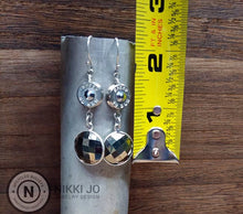 Load image into Gallery viewer, Pyrite & Silver .40 Bullet Casing Earrings
