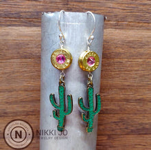 Load image into Gallery viewer, Brass .40 Bullet Casing & Cactus Charm
