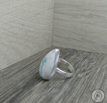 Load image into Gallery viewer, Emerald in Quartz Sterling Silver/ Argentium Ring