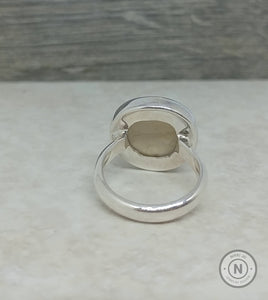 Dendrite Amonite Circle Sterling Silver/Argentium Ring
