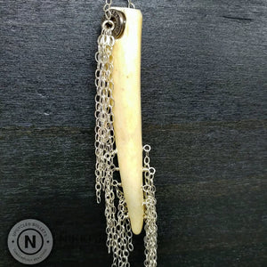 Antler Tassel & Bullet Casing Necklace