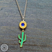 Load image into Gallery viewer, 45 Bullet Casing & Cactus Charm