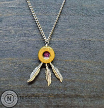 Load image into Gallery viewer, 45 Bullet Casing & Feather Charms