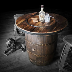 "Whiskey Barrel - Table top Barrel 36""-48"""