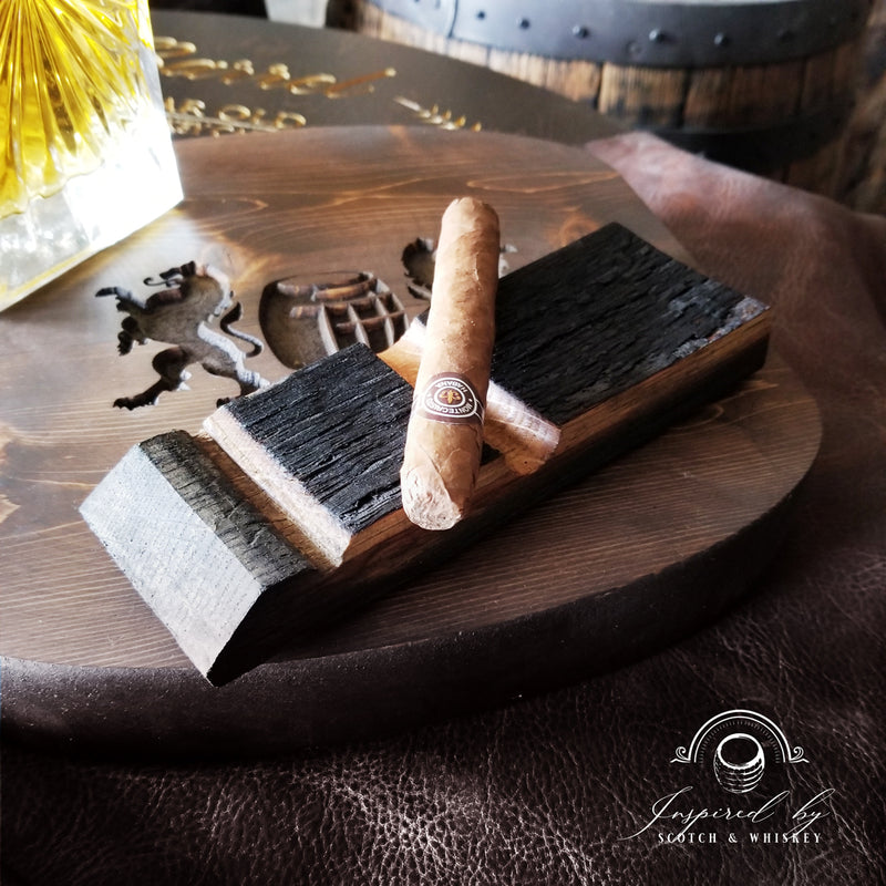 Whiskey Barrel Cigar Holder