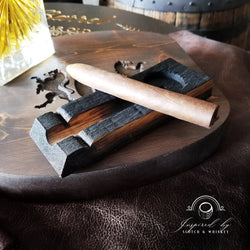 Whiskey Barrel Cigar Holder + Ash Tray