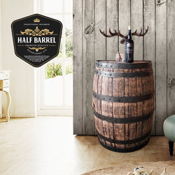 Half Barrel Wall Mount