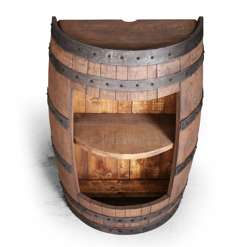 Half Barrel Opened Cabinet