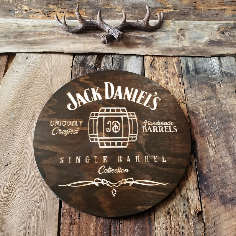 Whiskey Barrel - Custom Bar Signs (Custom logo) - Mancave - Pub Signs - Personalized Man Cave Sign Custom Bar Signs Wood Groomsmen Gift Ideas Housewarming Gift Wooden Pub Sign Wine Cellar Beer Basement Bar Decor