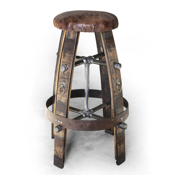 Barrel Bar Stool (Lion head)