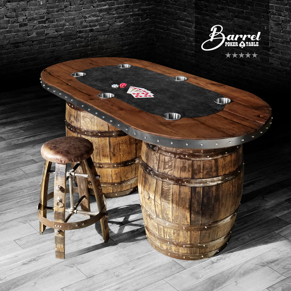 Whiskey Barrel - Barrel Poker Table