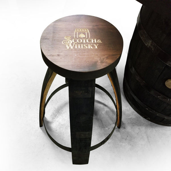 Poker Whiskey Barrel Table (Deer) - Bar Stools - Mancave - Rustic Poker Gambling