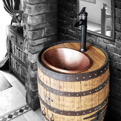 Whiskey Barrel - Sink & Vanity Barrel