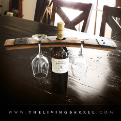 Wine Bottle Glass Barrel Holder