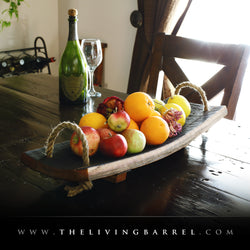 Whiskey Barrel Fruit Bowl
