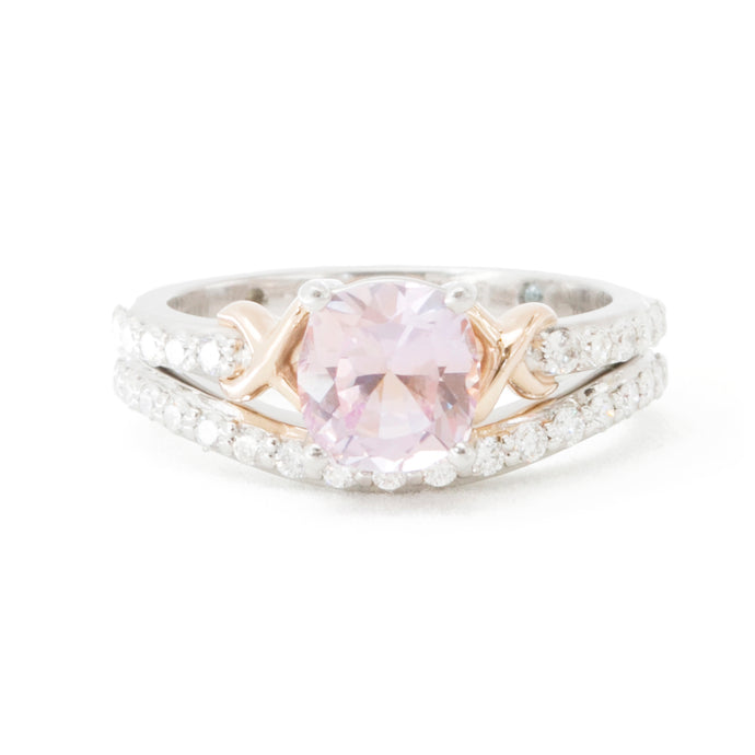 Alicia's Custom Pink Sapphire Gold Engagement Ring