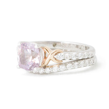 Load image into Gallery viewer, Alicia's Custom Pink Sapphire Gold Engagement Ring