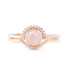 Load image into Gallery viewer, Shannon's Rose Quartz Diamond Engagement Ring