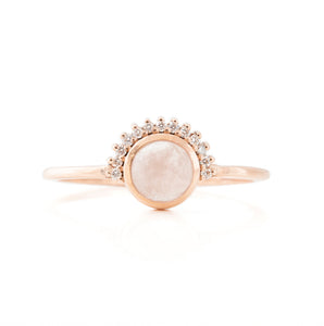 Shannon's Rose Quartz Diamond Engagement Ring