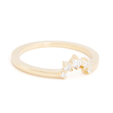Load image into Gallery viewer, Gold Diamond Crown Stacking Ring