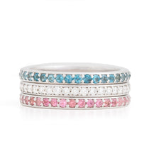 Load image into Gallery viewer, Birthstone Eternity Bands