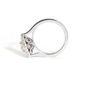 Samantha's Double Halo Custom Engagement Ring
