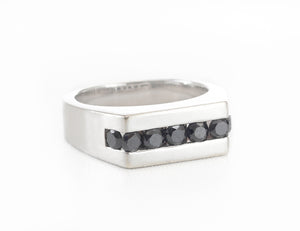Dave's Custom White Gold Black Diamond Ring
