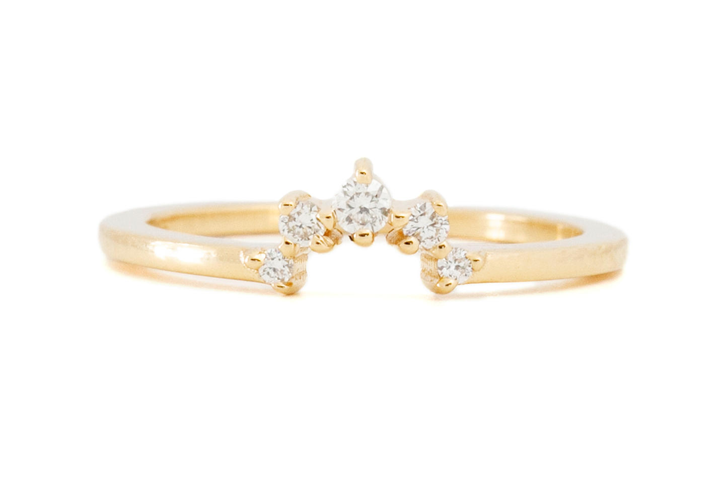 Gold Diamond Crown Stacking Ring