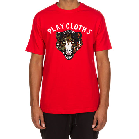 Leopard Mascot SS Tee (Red)