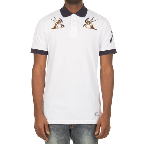 Free Birds Polo (Bleach White)