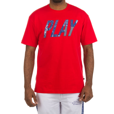 Play Shibori SS Tee (Racing Red)