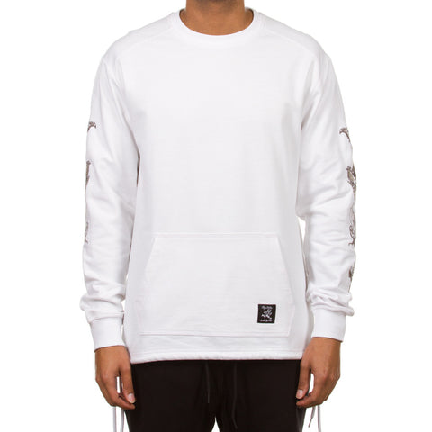 Closed Band LS Knit (White)