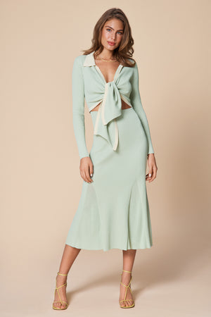 Knitted Riviera Dress Pistage