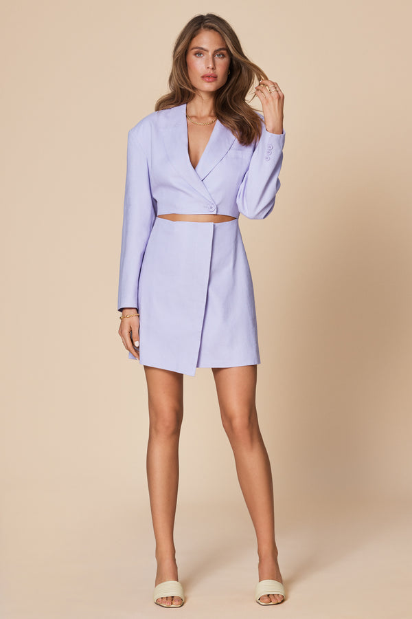Blazer Dress lila