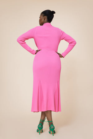 Knitted Riviera Dress Pink
