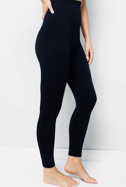 """Snatch Me Up"" Control Top Leggings- Black"