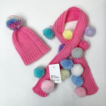 Load image into Gallery viewer, Pom Pom hat and scarf