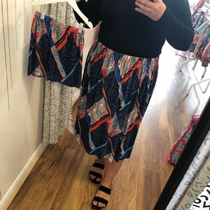 Mama and Mini Autumn Geometric Skirts