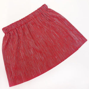 Red and silver Mama and Mini pleated skirts