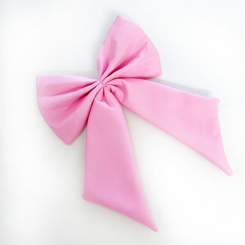 Candy Pink Leather look deluxe Interchangeable bow
