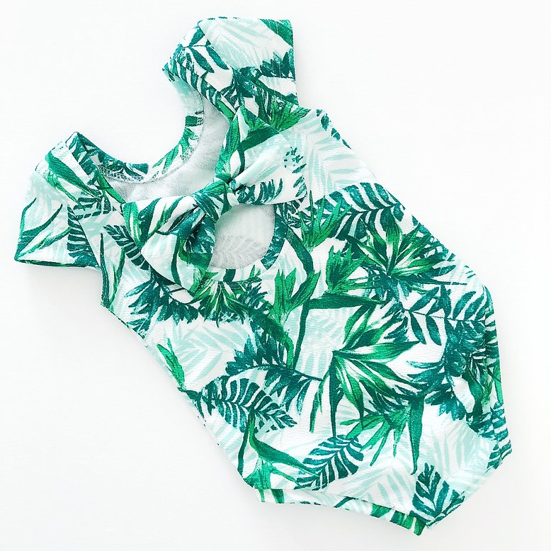 Tropical Bow Back Bodysuit