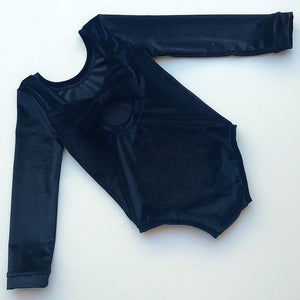 Black Velvet Bow Back Bodysuit and Dress