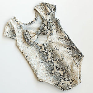 Snake Skin bow back bodysuit