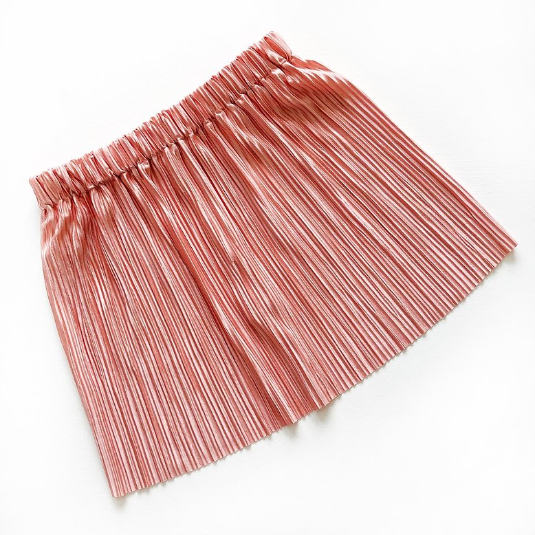 Mama and Mini Coral Pleated Skirt
