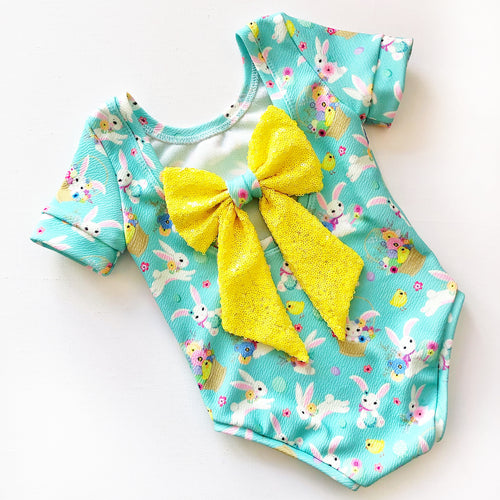 Spring Brights Bunny Bow Back Bodysuits Ready to post