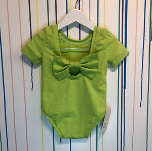 Lime bow back bodysuit